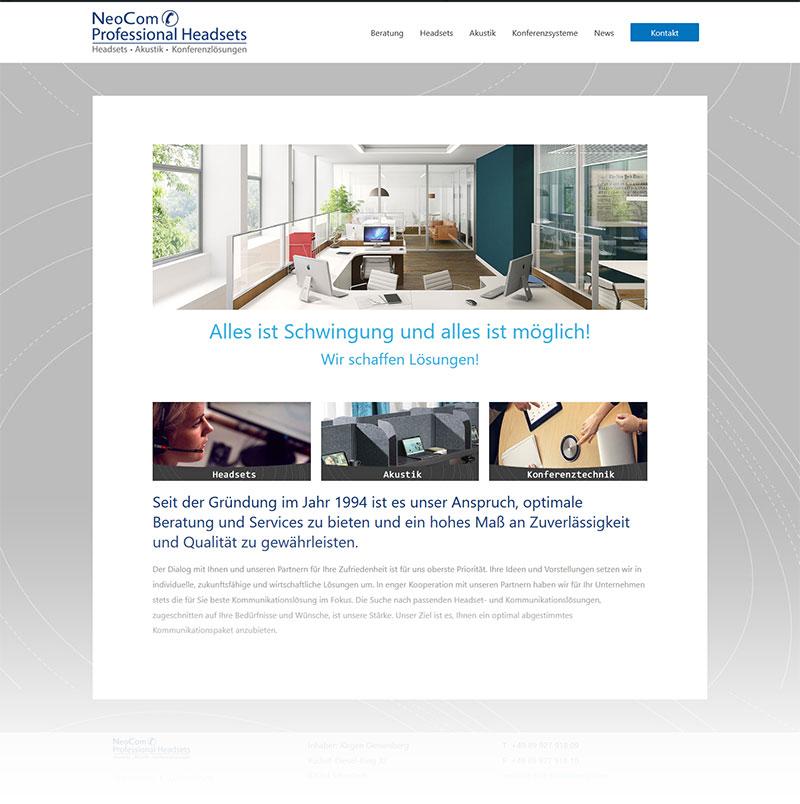 Neue Webseite NeoCom